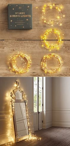 fairy light on classic mirror. Why does this remind me of Harry Potter? maybe because i think magic is beautiful...