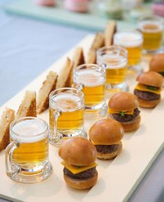 Sliders and Beer Steins | Colin Cowie Weddings | blog.theknot.com