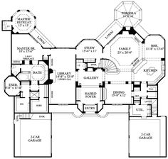#floorplan #twostory Plan W67094GL: European, Luxury, Corner Lot, French Country, Premium Collection, Photo Gallery House Plans & Home Designs