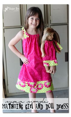 matching pillowcase dresses for girl and doll