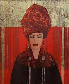 Female portrait, oil painting by French artist Richard Burlet Richard Burlet, Impression Textile, Culture Art, World Famous Artists, Illustration Art, Illustrations, Pop Surrealism, French Artists, Female Portrait