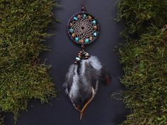 Dream catcher rear view mirror charm car decor hanging mobile