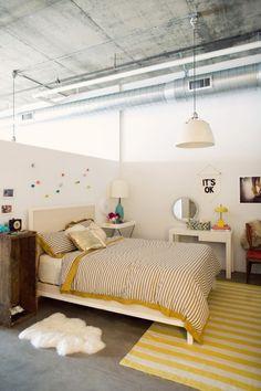 playful bedroom; yellow