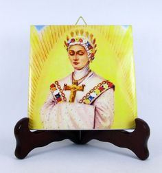 Virgin of La Salette - catholic #icon on ceramic tile - Available On #Etsy -  Only US$ 9.99 https://www.etsy.com/it/listing/234787096/catholic-art-our-lady-of-la-salette