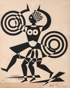 FB / Fortunato Depero (New York) - Ballerina negra History Design, Illustration, Painting Illustration, Art Deco Illustration, Surface Pattern Design, Cool Paintings, Vitruvian Man, Art File, Italian Futurism