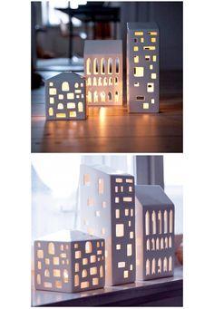 Urbania Lighthouse, modern contemporary tea light houses // design: R7B Copenhagen, shop: Kähler Design