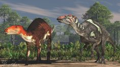 gongpoquansaurus_and_plesiohadros_by_paleoguy-d894dpx.jpg (1024×576)