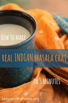 Love a good chai, but can't figure out how to make your own at home? Here's a quick and easy REAL Indian Masala Chai Tea recipe with real food ingredients.