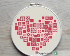 set of 6 modern christmas cross stitch pattern by Happinesst
