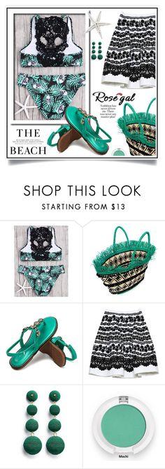 """Crochet Panel Jungle Skulls Print Bikini Set(Win $20 cash by PayPal)"" by ewa-naukowicz-wojcik ❤ liked on Polyvore featuring Sensi Studio, Oscar de la Renta, H&M and Kenneth Jay Lane"