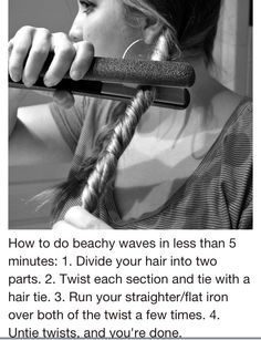 My hair is curly but this is a good idea!