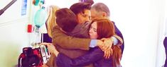 Their last day of filming together. Arthur Darvill as Rory Williams, Matt Smith as the Doctor, Karen Gillan as Amelia Pond. <3