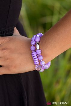 Where No Glam Has Gone Before Purple Bracelet