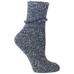 Lemon Country House Marl Crew Socks ($12) ❤ liked on Polyvore featuring intimates, hosiery, socks, flannel, marled socks and crew socks