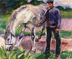 "bofransson: ""Man with Horse Edvard Munch - 1918 """