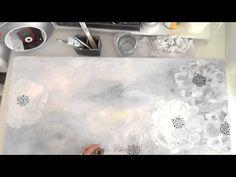 White Flowers - Mixed Media Canvas - DDAG - 22.12.2015 - YouTube