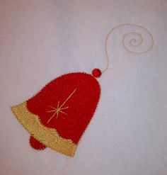 Christmas Bell Machine Embroidery Design