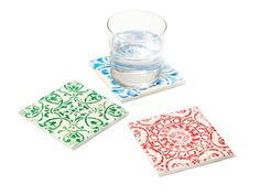 Turn tiles into #vintage-looking coasters with sharpies! #DIY #hgtvmagazine // http://www.hgtv.com/design/make-and-celebrate/handmade/6-diy-things-to-do-with-sharpies-pictures?soc=pinterest