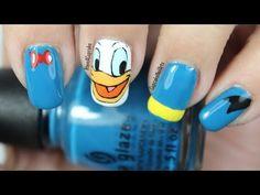 Disney Nail Art *Donald Duck* - YouTube