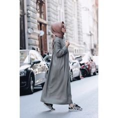 Ideas for dress casual long hijab Casual Hijab Outfit, Hijab Chic, Hijab Dress, Casual Dresses, Islamic Fashion, Muslim Fashion, Modest Fashion, Fashion Outfits, Street Hijab Fashion