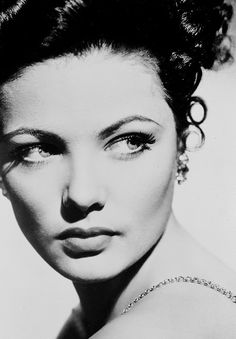 Glamour, the golden age of Hollywood Gene Tierney ·