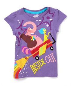 Look what I found on #zulily! Purple Inside Out Joy & Bing Bong Tee - Girls #zulilyfinds