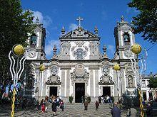 Facciata della Igreja del Senhor Bom Jesus, realizzata da Nasoni (wiki su Nasoni: https://it.wikipedia.org/wiki/Niccol%C3%B3_Nasoni)
