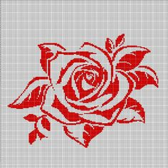 RED+ROSE+CROCHET+AFGHAN+PATTERN+GRAPH2