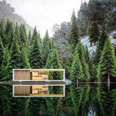 12 Modern Houses with Great Architecture in the Middle of Nature - Style Architectural Architecture Résidentielle, Minimalist Architecture, Beautiful Architecture, Contemporary Architecture, Natural Architecture, Modern House Design, Modern Interior Design, Photo D'architecture, Casa Patio