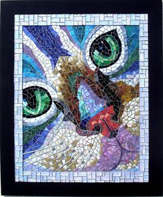 Chat ~ by Anne Imbertie ~  collinemosaics, via Flickr
