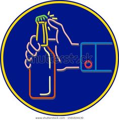 Mono Line Illustration Male Hand Opening Stock Vector (Royalty Free) 1501024130 Mono line illustration of male hand opening cap of a beer bottle by flicking with thumb set inside blue circle done in monoline style. Male Hands, Line Illustration, Beer Bottle, Beverage, Royalty Free Stock Photos, Cap, Pictures, Blue, Image
