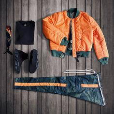 """""""If you ever want to make a bold statement and need a pop of color, flip your jacket and wear it with confidence."""" – Donnay Ragland. Tap the pic for MA-1 Slim Fit styling tips."""