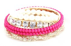 Ladies Delicate European Stylish Beads Multilayer Rose Bracelets