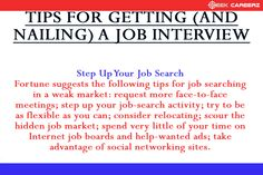 #Tips for Getting (and Nailing) a #Job #Interview. #SEEKCAREERZ