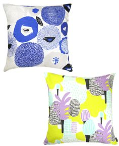 Playful prints and vibrant hues make the perfect pillow! #style #decor