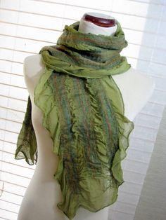 Nuno Felted Silk Scarves