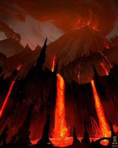 Volcano by Concept-Art-House on DeviantArt