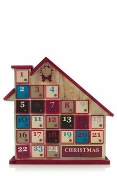 Buy Advent House from the Next UK online shop Babys 1st Christmas, Christmas Love, Christmas Goodies, Christmas Birthday, Christmas Ideas, Wooden House Advent Calendar, Reusable Advent Calendar, Advent Calendars, Mistletoe And Wine