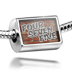 Sterling Silver Charm 475 New Haven, CT brick - Bead Fit All European Bracelets * Check out the image by visiting the link.