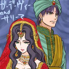 【アル戦】ひとりシンドゥラ祭り【ツイログ】 [6] Prince Gadevi and his wife Salima ( Mahendra's daughter)?, Arslan Senki fanart
