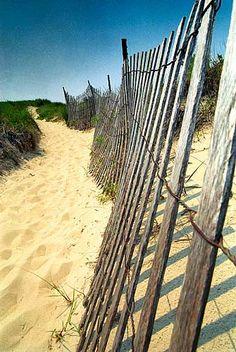 Beach Scene Ocean Landscape Sand Dunes Landscape by justamoment, $22.00