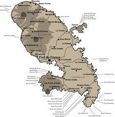 Carte des plages de la Martinique   RePinned by : www.powercouplelife.com