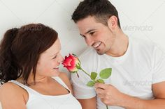 Portait of man and woman in a bed with a rose ...  20-24 years, Caucasian appearance, One Person, Young Women, beautiful, beauty, bed, bedroom, casual, cheerful, couch, cute, exhausted, face, fresh, hair, happy, home, house, human, indoor, lifestyle, lying, morning, one, pillows, pretty, red-haired, relax, relaxation, room, rose, sensual, single, sofa, tired, tranquil, white