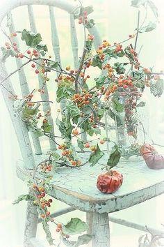 Raindrops and Roses Autumn Day, Autumn Leaves, Winter Berries, Le Gui, Autumn Inspiration, Fall Season, Fall Halloween, Vintage Christmas, Seasons