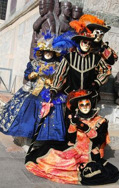 https://flic.kr/p/aaQJqW | Costumed characters near the Doges Palace (IMG_3251a) | This photo is from the third day of the 2011 Carnevale in Venice, Italy. There were no formal events planned so I spent most of the day wandering aimlessly around St. Mark's Plaza taking photos of the costumed characters. What a lovely day to be in Venice!