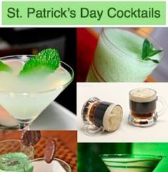 The top ten festive cocktails for St. Patrick's Day. Enjoy green beer, irish coffee, guinness jello shots and more!