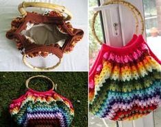 f5ba7fc2da279 Striped Crochet Bag Pattern Crochet Purses