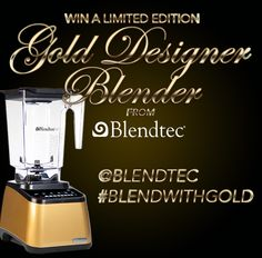 Win this Blender! Tag @Blendtec and use #BlendWithGold on Instagram, twitter or sign up on our facebook page! Re-pin to win! 2 winners will be chosen on Oct 15th!