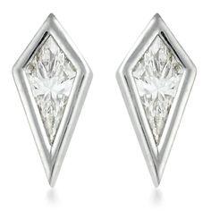 Diamond Kite Stud Earrings