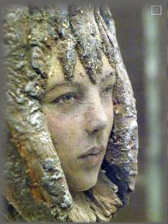 """Tajana Raum sculpts polymer into odd pieces of wood seeming to draw out the """"spirit"""" in the wood"""